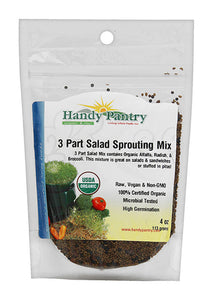 Handy Pantry 3 Part Salad Sprouting Seeds Mix 4oz