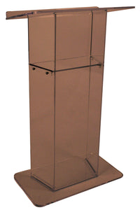 "Smoked ""Wing"" Style Acrylic Lectern"