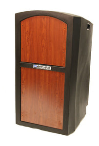 Amplivox Pinnacle Lectern - No Sound - Mahogany