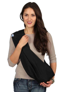 HugaMonkey Baby Sling Carrier for Newborn Babies, Infants and Toddlers - Black, Medium