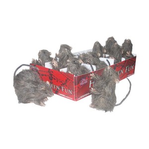 Global Trend Innovations Halloween Party Prop Rat Assortment