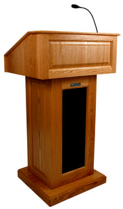 Victoria Lectern, Solid Wood - Wired Sound - Cherry