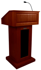 Victoria Lectern, Solid Wood - Wired Sound - Mahogany