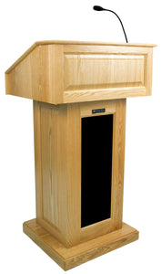 Victoria Lectern, Solid Wood - Wired Sound - Maple