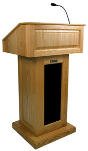 Victoria Lectern, Solid Wood - Wired Sound - Oak