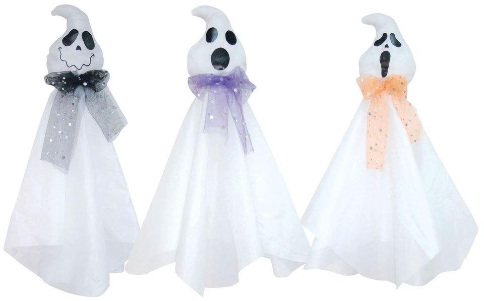 Global Trend Innovations Halloween Decoration Prop Outfit Hanging Friendly Ghost Asst
