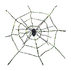 Global Trend Innovations Halloween Party Prop Spiderweb With Spider Asst