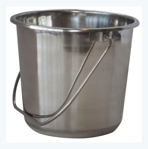 SSB132SET Small Stainless Steel Bucket Set   3Piece