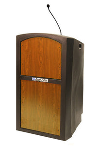 Pinnacle Wired for Sound Lectern in Medium Oak
