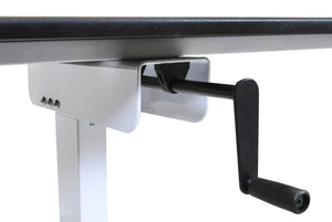 "Luxor 40"" Single Column Crank Stand Up Desk - 45.25""H x 39.37""W x 23.62""D"
