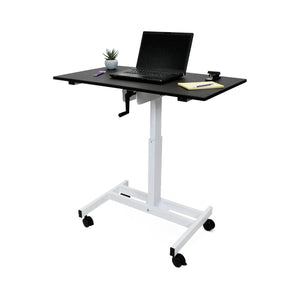 "Offex single column Hand crank stand up desk 23.625""D x 39.375""W x 30"" to 45.25"""