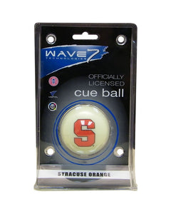 Wave7 Syracuse Sports Team Logo Officially Licensed Cue Ball