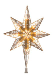 National Tree 11 Inch Bethlehem Star Tree Topper with 10 Low Voltage Dual Color LED Bulbs (TA21-11L-1)