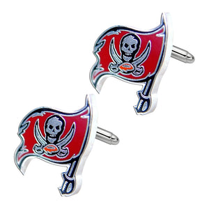 NFL Tampa Bay Buccaneers Sports Team Logo Mens Cut Out Cufflinks with Case