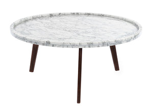 Cenports Commerce, Inc. Round Coffee Table in Walnut