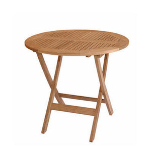 "Anderson Teak Outdoor Patio Windsor 31"" Round Picnic Folding Table"