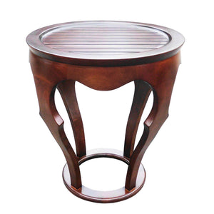 D-Art Home Indoor Decorative Mahogany Furniture Wooden Baronnes Curved Nesting Table