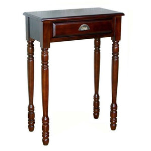 D-ART COLLECTION Mahogany Savanna Hall Table with Drawer