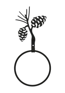 12 Inch Pinecone Towel Ring