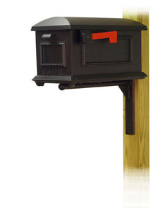 Special Lite Products Company Traditional Curbside Mailbox with Ashley Front Single Mailbox mounting Bracket