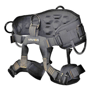 Fusion Climb Spartacus Heavy Duty Half Body Rigging Harness, Black/Gray, Large