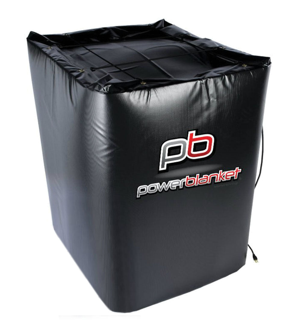 Powerblanket TH350-240V Industrial Grade/Weather Resistant D-15 Vinyl Shell 350 gal Insulated IBC Tote Heater, 240V, Black