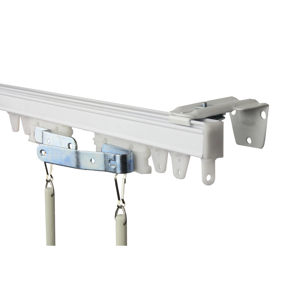 Commercial Wall/Ceiling Curtain Track Kit 10ft (compose of two 5ft track)