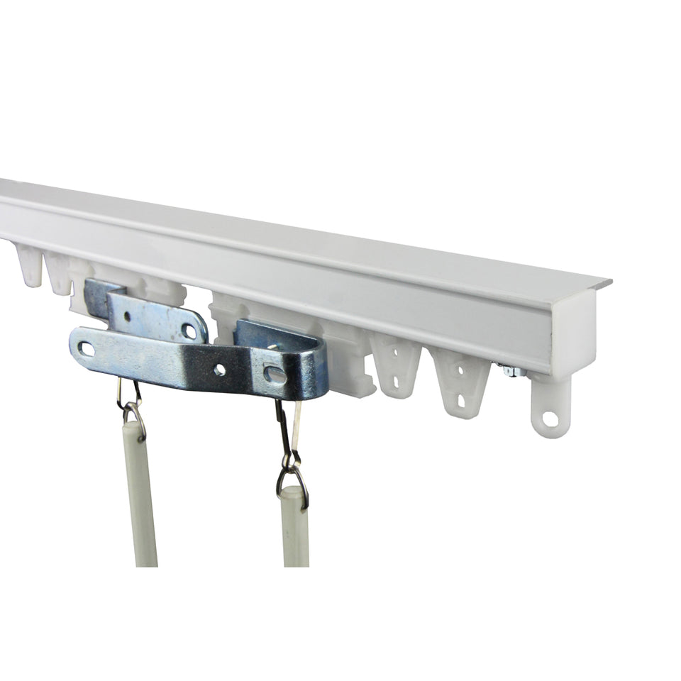 Commercial Ceiling Curtain Track Kit 16ft (compose of two 8ft track)