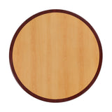"Lancaster Home 24'' Round Two-Tone Resin Cherry and Mahogany Table Top - 24"" W x 24"" D x 2"" H"