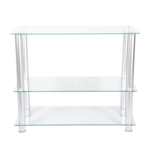 35 inch Extra Tall Glass and Aluminum LCD and Plasma TV Stand