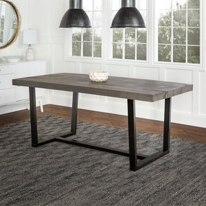 "72"" Rustic Solid Wood Dining Table - Grey"