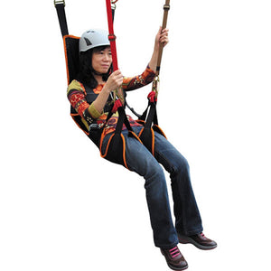 Fusion Climb Roar Deluxe Maximum Comfort Full Body Zipline Hammock Harness with Head Support
