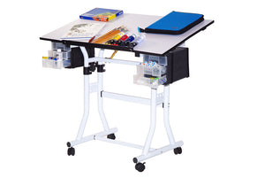 Martin Designs Creation Station Deluxe Hobby Table White with White Top