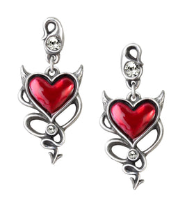 Alchemy of England Halloween Party Devil Heart Earrings