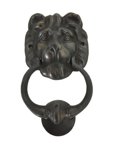 D-Art Collection Decorative Figurine Lion Head Brass Door Knocker (Big)