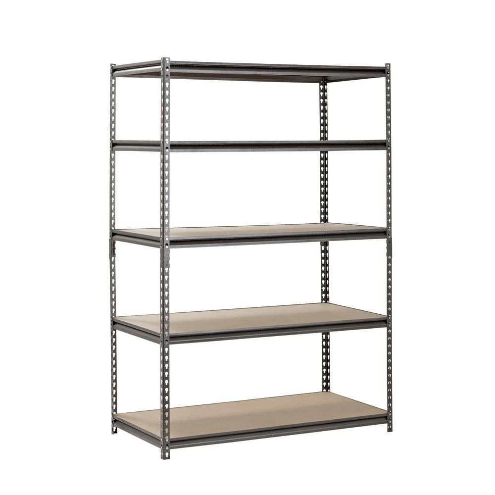 5 Shelf Z-Beam Boltless Steel Shelving Unit in SilverVein - 72