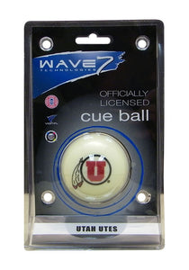 Wave7 Utah Sports Team Logo Officially Licensed Cue Ball