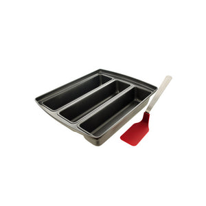 Bulk Buys Home Kitchen Three-Section Lasagna Pan With Spatula Brown Box 1 Pack