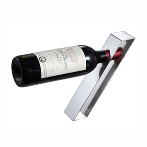 Visol Products Bellet Stainless Steel Wine Bottle Holder, Chrome