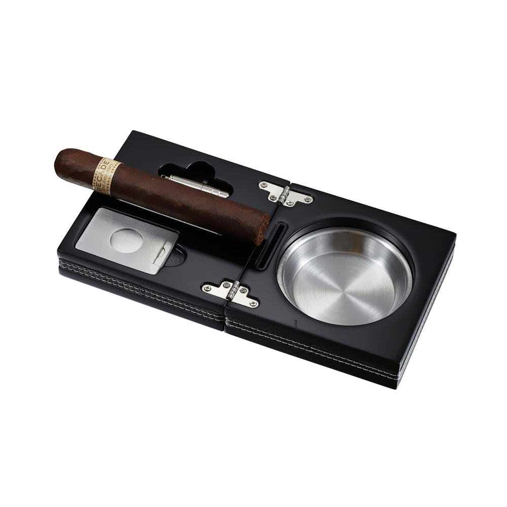 Visol Products VASH612 Opal Wooden Folding Cigar Ashtray,Black