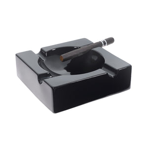 Visol Donovan Black Ceramic Cigar Ashtray For Patio Use