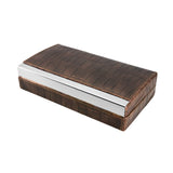 "Visol ""Mapleton"" Brown Leather Travel Humidor - Holds 4 Cigars"