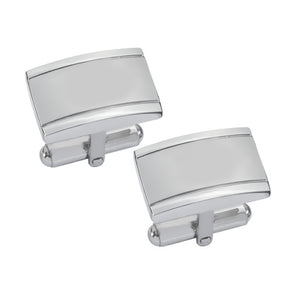 Visol Taurus Brushed Stainless Steel Cufflinks