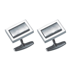 Visol Elan Stainless Steel Engravable Cufflinks