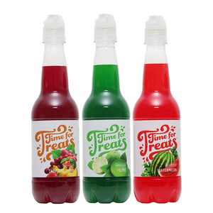 Time for Treats 3-Pack Tropical Punch, Watermelon, Lime Flavored Syrups VKP1107