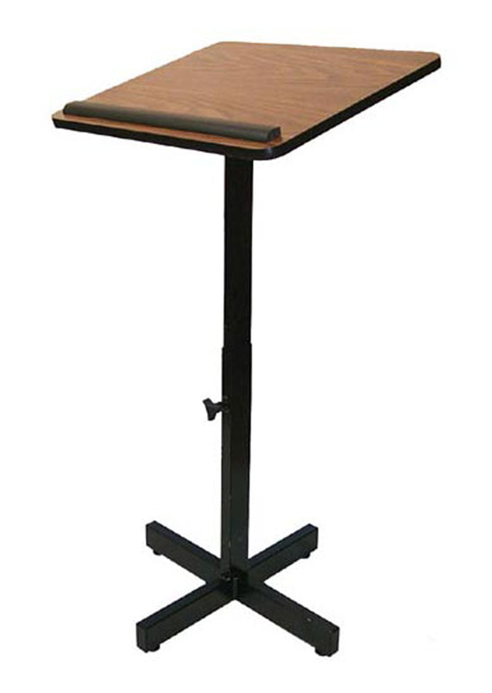 Xpediter Adjustable Lectern Stand in Walnut