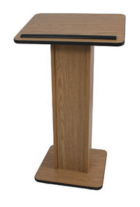 Amplivox Elite Veneer Lectern - No Sound - Light Oak