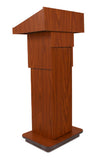 Ampilvox School Office Executive Non-Sound Column Lectern Light Oak