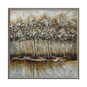 Renwil Metallic Forest Square Framed Large Alternative Wall Decor