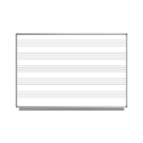 "Luxor 72""W x 48\""H Wall-Mount Music Whiteboard"